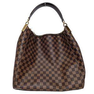 Louis Vuitton Damier Ebene Portobello GM Hobo Bag